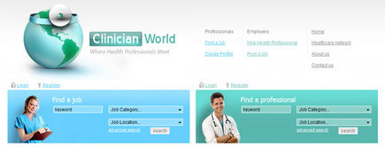 Web developer portfolio: Clinician World