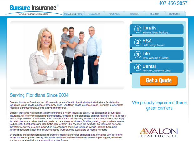 Insurance Agency Web Design - Health Insurance Web Design - Car Insurance Web Design - Insurance Company Website