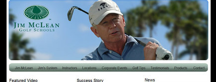 Web developer portfolio: Jim Mclean Golf School