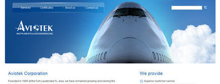 Web developer portfolio: Aviotek Aviation Parts