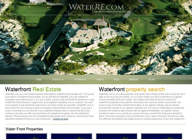Waterfront Real Estate Web Design - Real Estate System Development - Real Estate Website Design