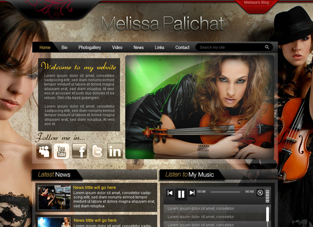 Musician Web Design - Miami Artist Web Design - Miami Musician Web Design - Artists System Web Development