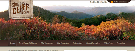 Web developer portfolio: Tennessee Lots