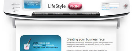 Web developer portfolio: Lifestyle Print