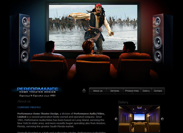 Home Theater Installation Web Design