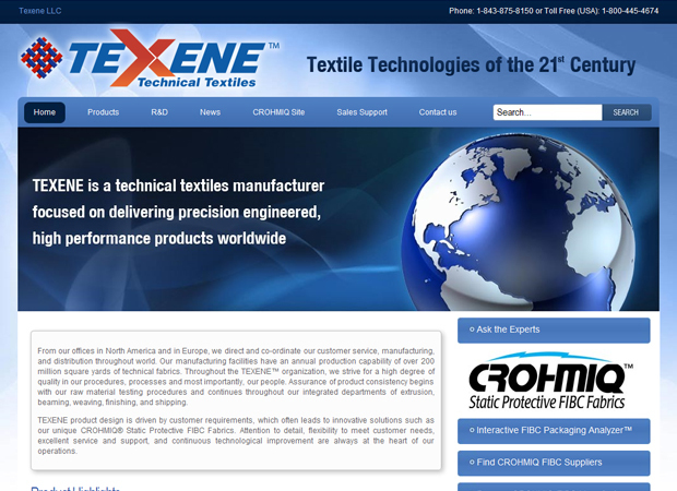 Textile Industry Web Design - Technical Textiles Web Design - Textile Manufacturer Web Design