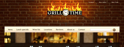 Web developer portfolio: Grill Time